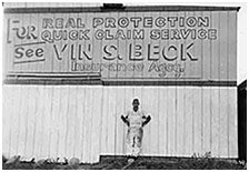 4)The first billboard for Beck Insurance