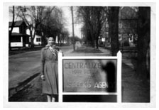 5) Mary Beck next to one of the first Beck Insurance signs. (Mid 50′s)